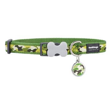 Camouflage Green Dog Collar & Tag Set