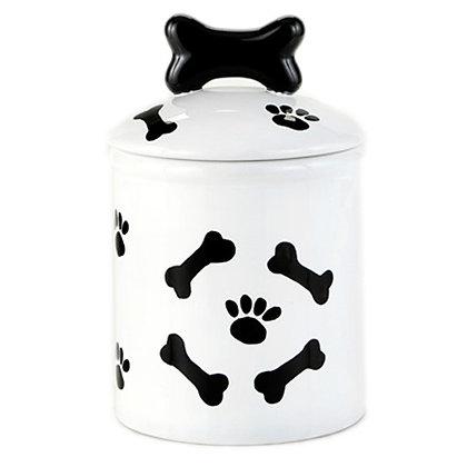 Paw Prints And Bones Dog Treat Jar