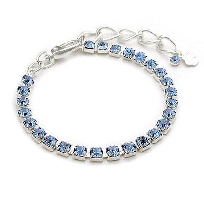 One Row Crystal Dog Necklace Blue