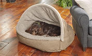ComfortFill Fleece Burrow Dog Bed