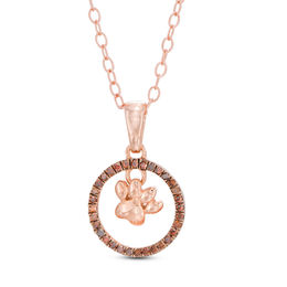 Cognac Diamond Pendant