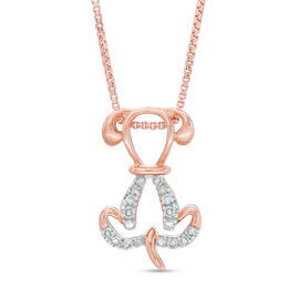 Rose Gold Pendant Necklace for Dog Lovers