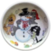 Snowdaze Christmas Dog Bowl