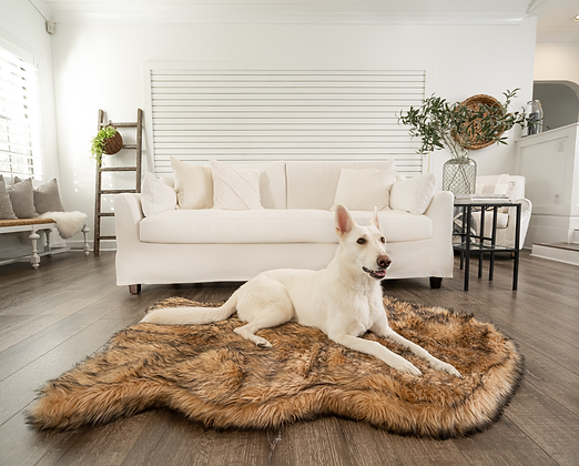 Faux Fur Orthopedic Dog Bed