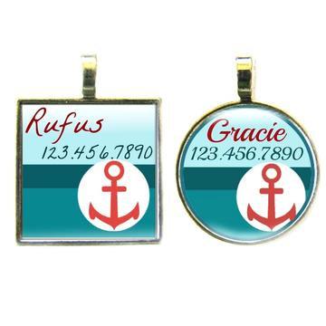 Yacht Club Custom Dog ID Tag