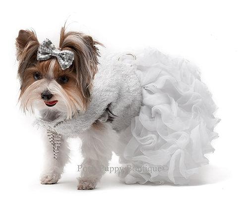 Yvette Ruta Couture Beverly Dog Dress White