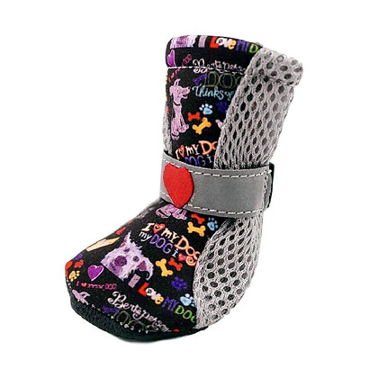 Chalkboard City Shoes Dog Boots