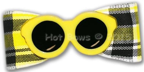 Sun & Surf Dog Hair Bow Yellow