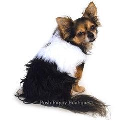 Polar White Faux Fur Dog Vest