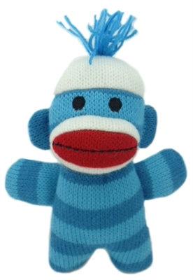 Weezy Sock Monkey Plush Dog Toy