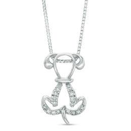 Sterling Diamond Pendant