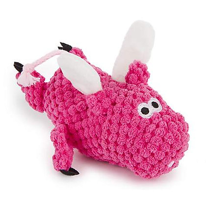 Checkers Flying Pig Dog Toy