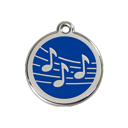 Stainless Steel and Enamel Music Dog Tag