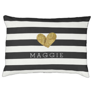 Gold Heart Bed