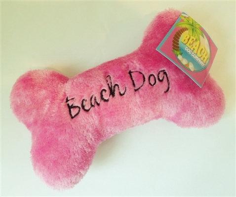 Beach Dog Bone Toy Pink Large