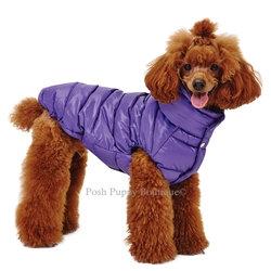 Love Faux Down Padding Dog Vest Purple