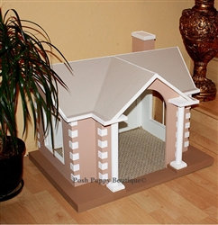Colonial Style Dog House Tan