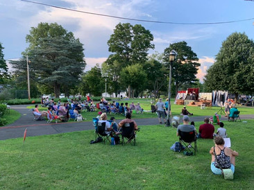 audience in the park