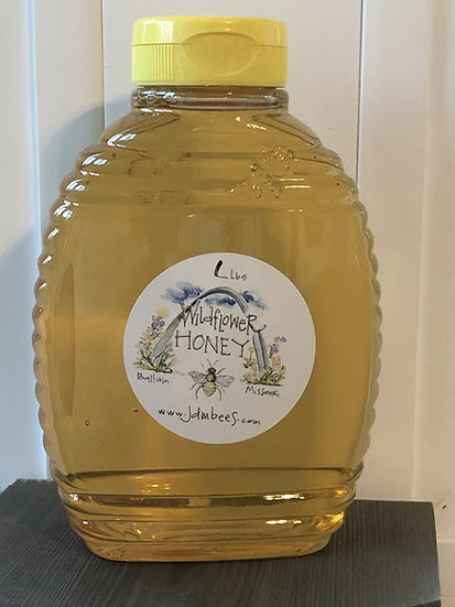 1 lb squeeze bottle - Wildflower honey