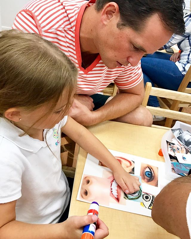 Family Day ~ Classroom_ F ~  Artist_ Pablo Picasso ~ Music_ Bethoven ~ #familysharing #playing #pare