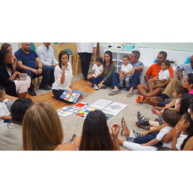 Family Day ~ Classroom_ E ~  Artist_ Mondrian ~ Music_ Bach ~ #familysharing #playing #parents #clas