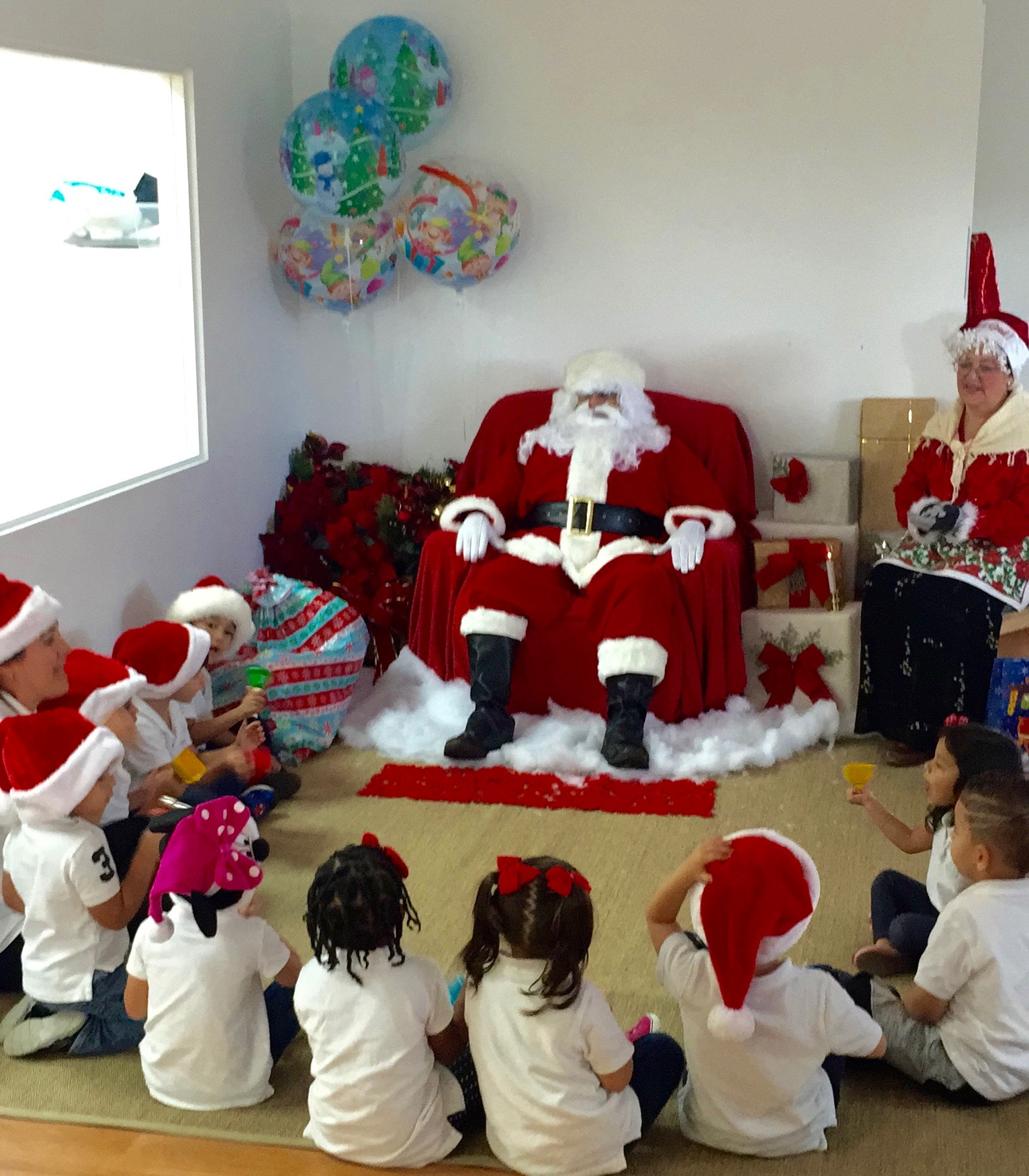 Santa's Visit To Ecokids 2015