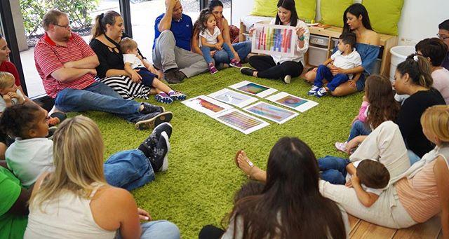 Family Day ~ Classroom_ C ~ Artist_ Cruz Diez ~ Music by_ Handel ~ #familyday #sharing #kids #parent