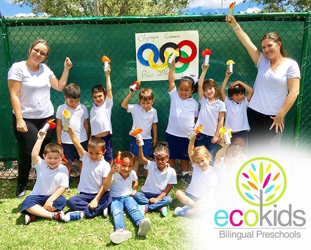 EcoKids Bilingual Preschools  Río Olympics 2017🏅🏋🏻‍♀️🚴🏻‍♀️🏊🏻🇧🇷 ~ Thursday July 6th, 2017 ~