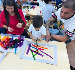 Family Day ~ Classroom_ B ~  Artist_ Cruz Diez ~ Music_ Handel ~ #familysharing #learning #ecokids #