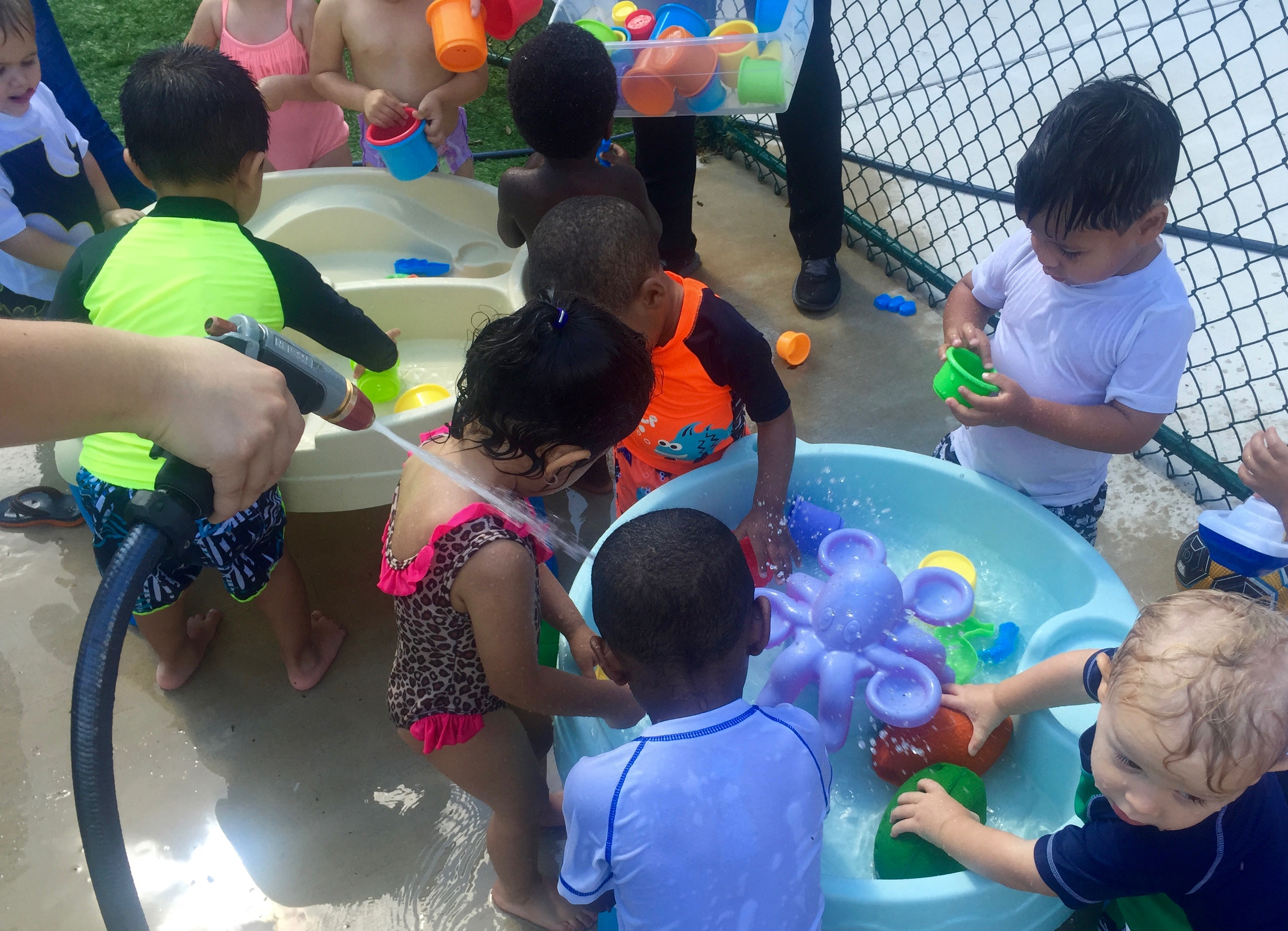 Bilingual Summer Camp Water Play