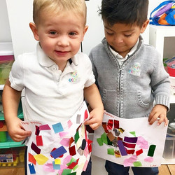 Art Collage🎨👬 ~ _ecokidspreschools  #COLLAGE #fun #proud #happy #learning #express #sensory #iamec