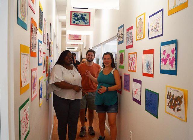 Art Gallery ~ Family Day ~ Classroom_ B ~  Artist_ Cruz Diez ~ Music_ Handel ~ #familysharing #playi