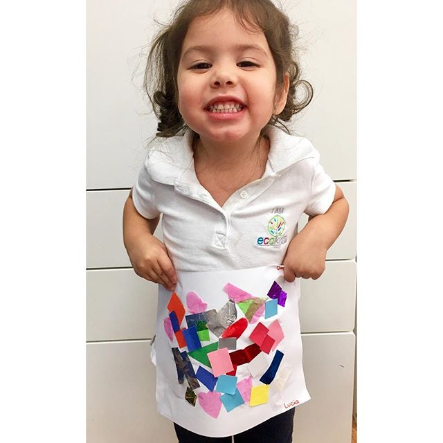 Creative Art🎨 ~ EcoKids Bilingual Preschools ~ I Am EcoKids 😁 ~ #learning #art #happy #proud #work