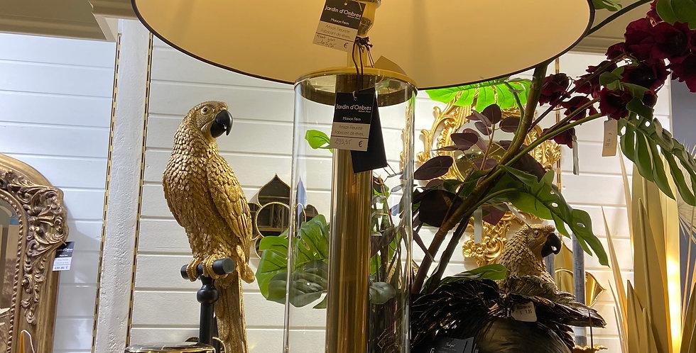 lampe sur pied cylindrique en verre