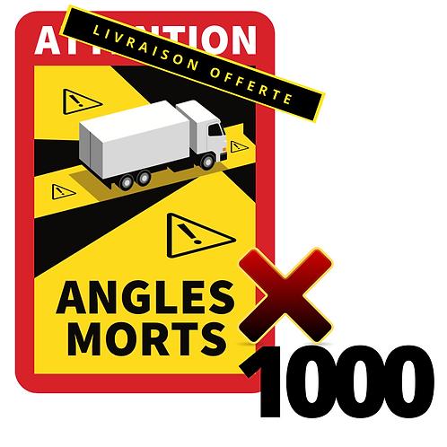 Lot de 1000 Autocollants angles morts CAMIONS