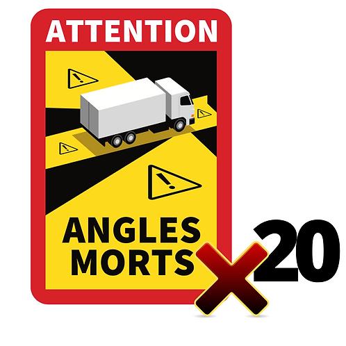 Lot de 20 Autocollants angles morts CAMIONS