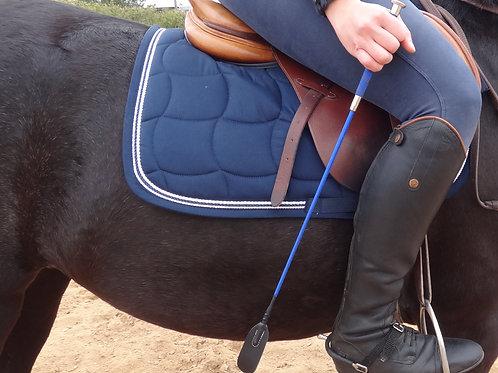 Cravache 60cm bleu