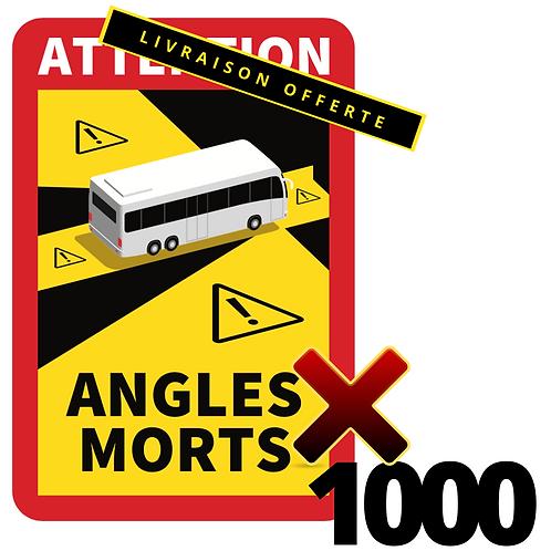 LOT DE 1000 Autocollants angles morts CARS / BUS