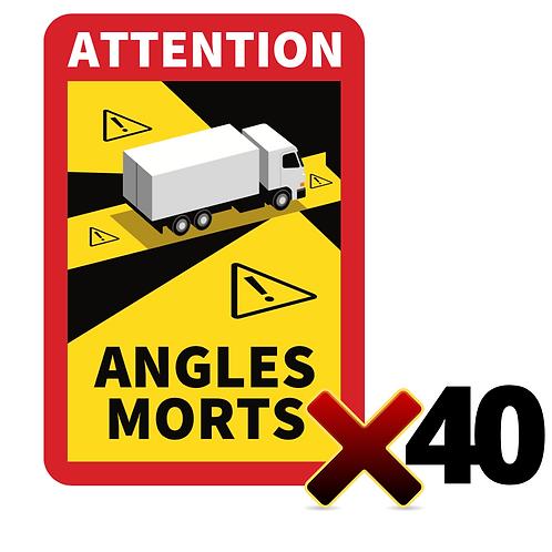Lot de 40 Autocollants angles morts CAMIONS