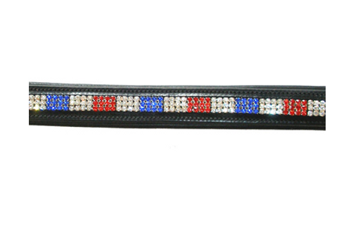 Frontal strass Tricolor