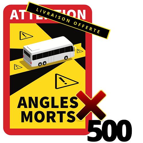 LOT DE 500 Autocollants angles morts CARS / BUS