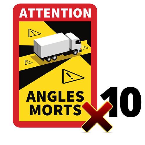 Lot de 10 Autocollants angles morts CAMIONS