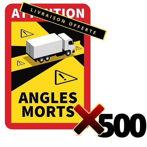 Lot de 500 Autocollants angles morts CAMIONS