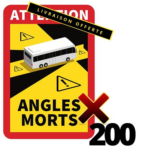 LOT DE 200 Autocollants angles morts CARS / BUS