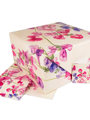 Sweet Pea wrapping paper