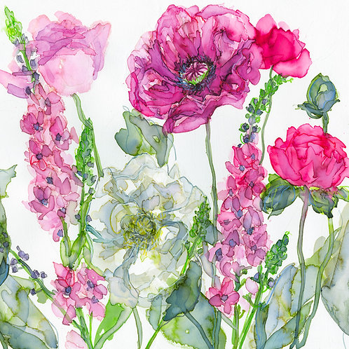 Poppies and Verbascum Greeting Card