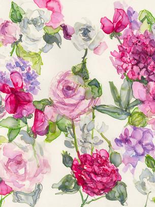 Roses, sweet pea and Phlox  Design