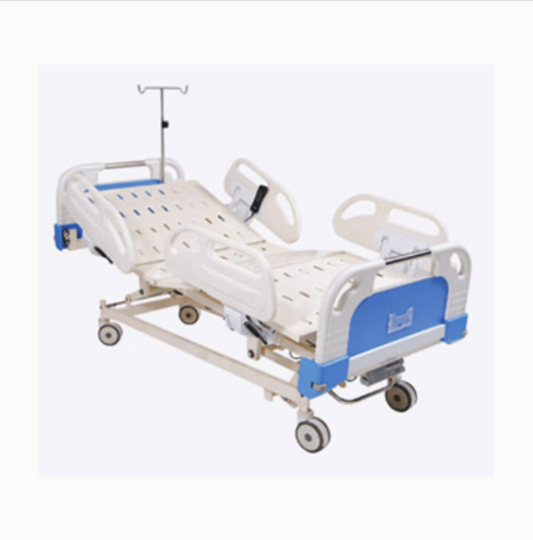 Motorised 5 Function ICU Hospital Bed with ABS Panel and heels
