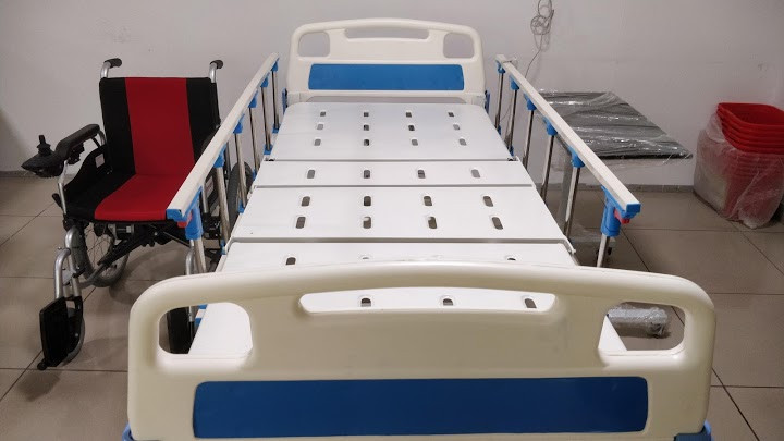 Motorised Hospital Bed with Side Railings and ABS panels
