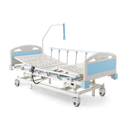 Motorised 2 Function Hospital Bed with Wheels and Side railings